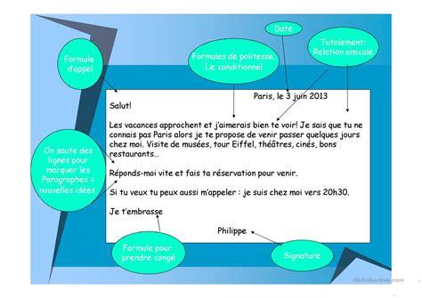 Exemple De Lettre Amicale 201 crire une lettre amicale fiche d exercices free esl