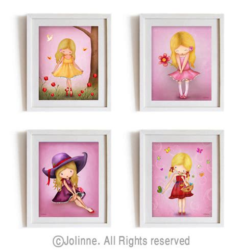 kids prints for bedrooms girls room wall art art prints set of 4 posters kids room