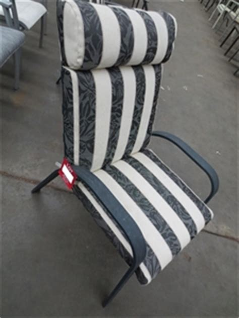 high chair cushion australia high back aluminium outdoor chair with striped padded