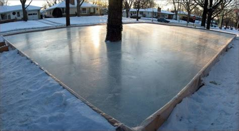 backyard rink thickness 4x4 post 2x12 hockey rink