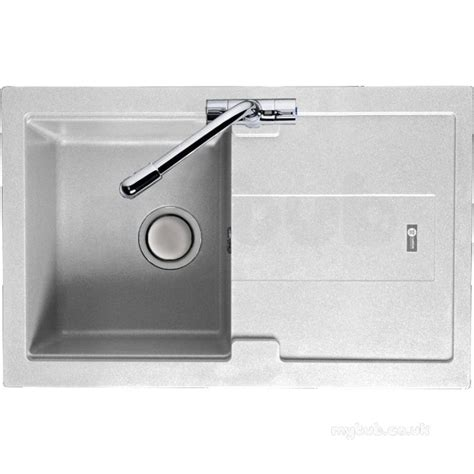 Compact Kitchen Sinks Polar White Bali Kitchen Sink Reversible With Compact Single Bowl And Drainer Carron