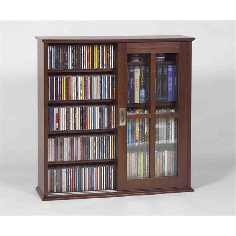 sliding door dvd storage cabinet mission wall hanging sliding door cd dvd cabinet in walnut