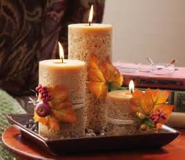 home decor with candles fall and autumn centerpieces decoration ideas