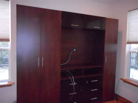 Wardrobe With Tv Space by High End Custom Wardrobe With Tv Space