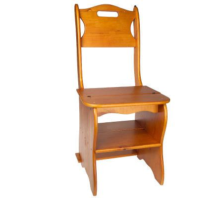 Ben Franklin Step Stool by Ben Franklin Convertible Wooden Chair Step Stool Qvc
