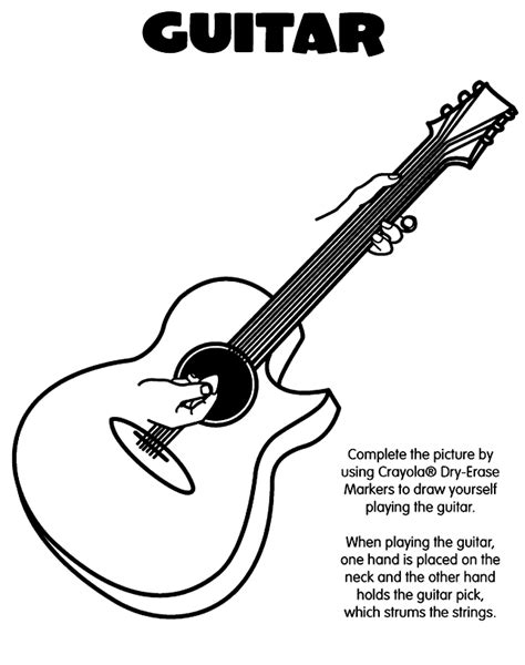 coloring book pages guitar guitar coloring page coloring home