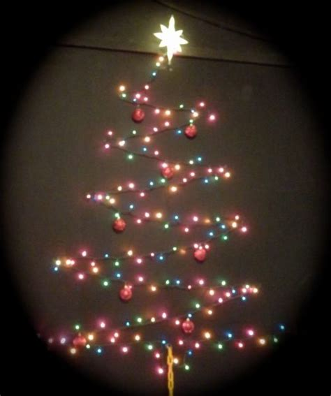 tree lights on wall how to make a chrismas wall tree 15 amazing wall