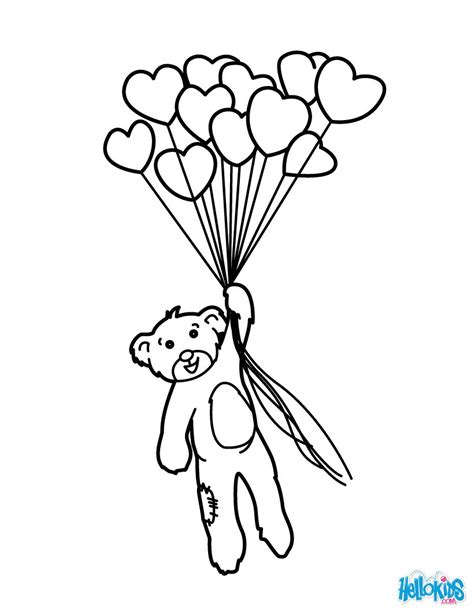 heart balloon coloring page bunch of heart balloons coloring pages hellokids com