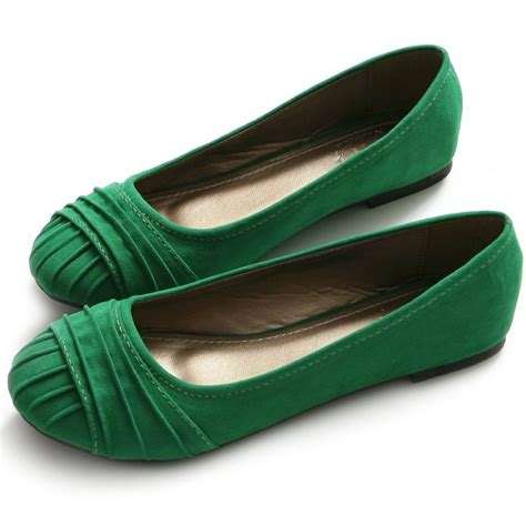 coloured flat shoes 2 green color wear comfort flats idas 2014 adworks