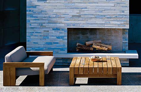 Solid Teak Wood Outdoor Furniture By Marmol Radziner For
