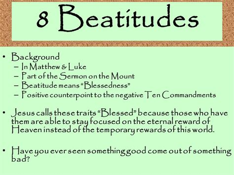 8 beatitudes and the works 8 beatitudes and the works of mercy ppt video online
