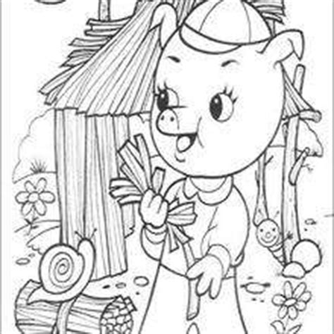 coloring page straw house three little pigs coloring pages 18 free disney
