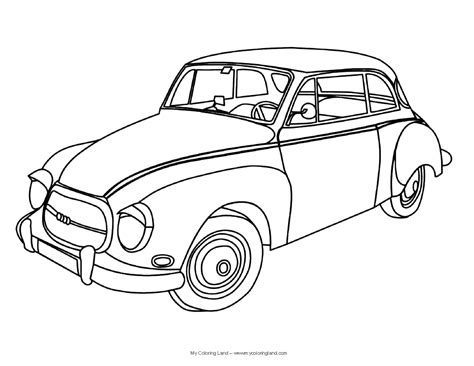 coloring pictures of vintage cars otroci my coloring land