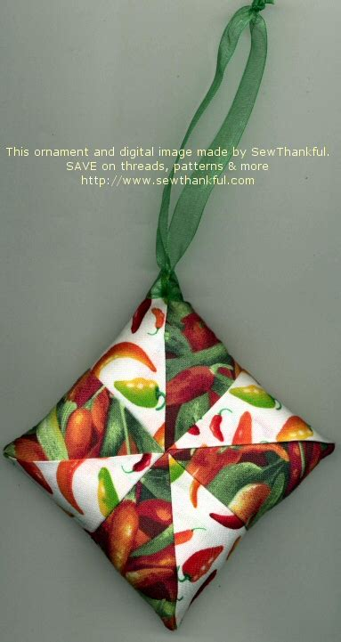 sew thankful blog 187 fabric ornament pattern