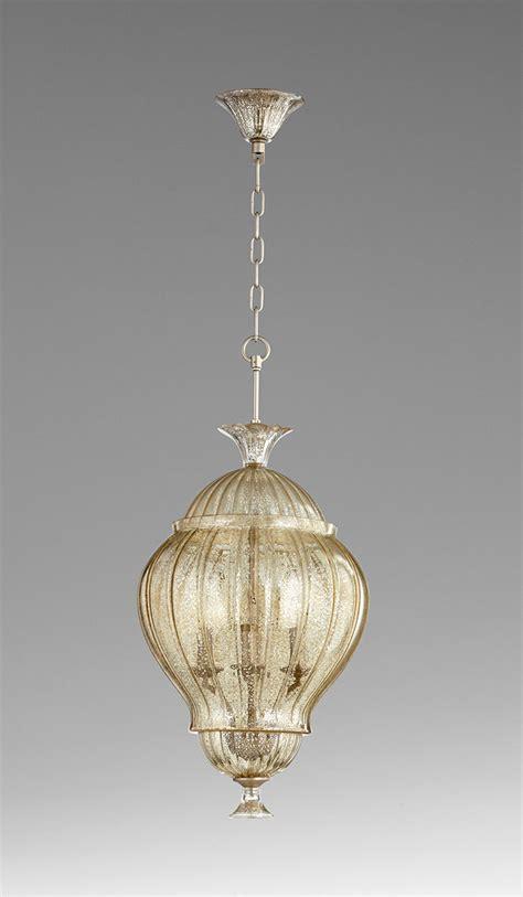 strata mercury glass four light pendant light by cyan design
