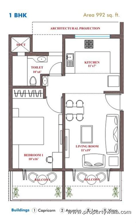 1bhk Floor Plan | 1bhk joy studio design gallery photo