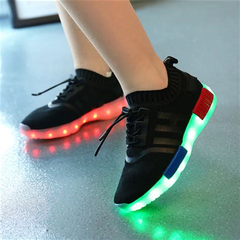 glowing shoes luminous sneakers casual shoes glowing led footwear