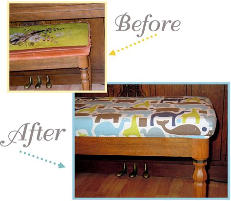piano bench cover pattern naturally creative mama tutorial piano bench slip cover