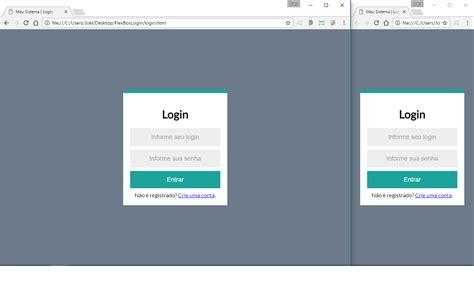 layout tela de login html html div como centralizar com css3
