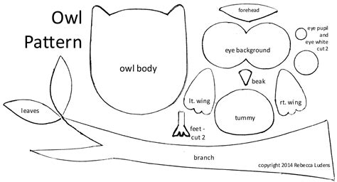 owl templates for sewing printable owl pattern coloring home
