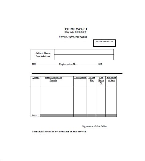 retail receipt template retail invoice template 12 free word excel pdf format