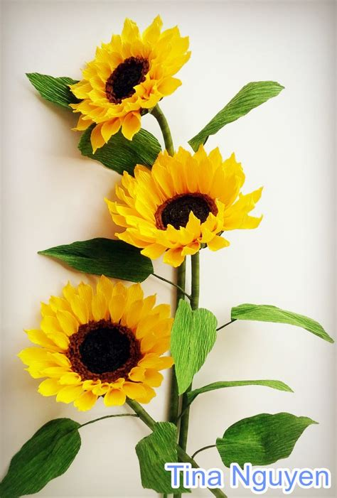 How To Make Sunflower Paper Flowers - best 25 paper sunflowers ideas on sunflower
