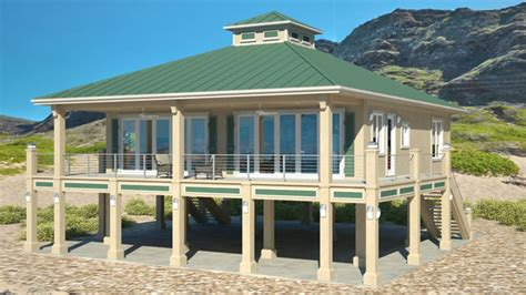 beach house plans on piers clearview 1600p 1600 sq ft on piers beach house plans