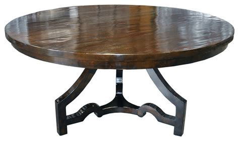 eclectic dining tables three leg round dining table distressed brown eclectic