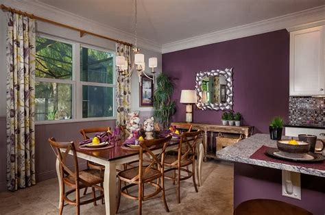 purple dining room ideas  attract  family members