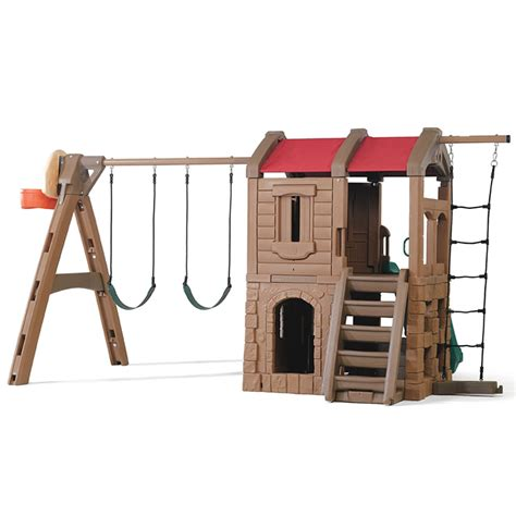 step 2 swing naturally playful adventure lodge play center kids swing