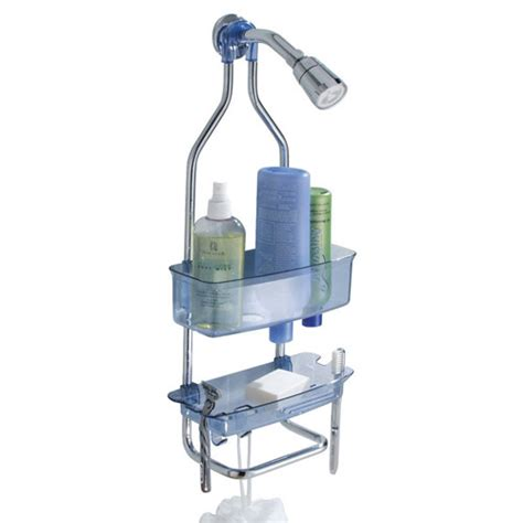 Plastic Bathroom Caddy by Zia Stainless And Plastic Shower Caddy Blue In Shower