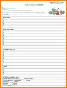 Food Sign Up Sheet Template by 10 Food Sign Up Sheet Template Sephora Resume