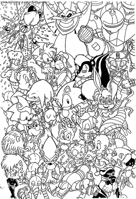 sonic coloring book all your favorite sonic characters books sonic the hedgehog color page coloring pages for