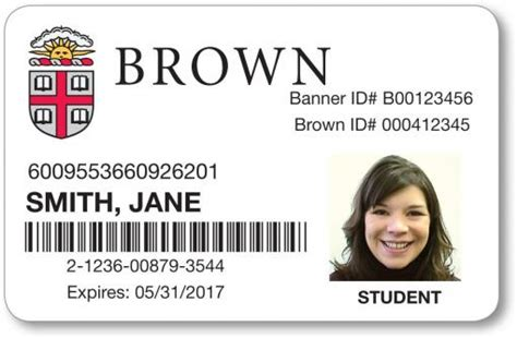 College Id Templates For Id Cards by Redesign