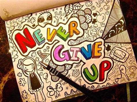 up doodle never give up image 1634186 by lovely jessy on favim