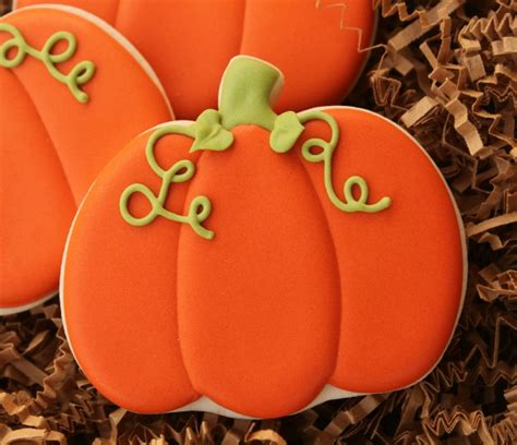decorated pumpkin cookies the sweet adventures of sugar - Pumpkin Cookies Decorating