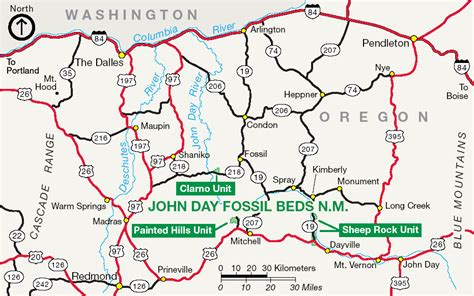 john day fossil beds map file joda map png wikimedia commons