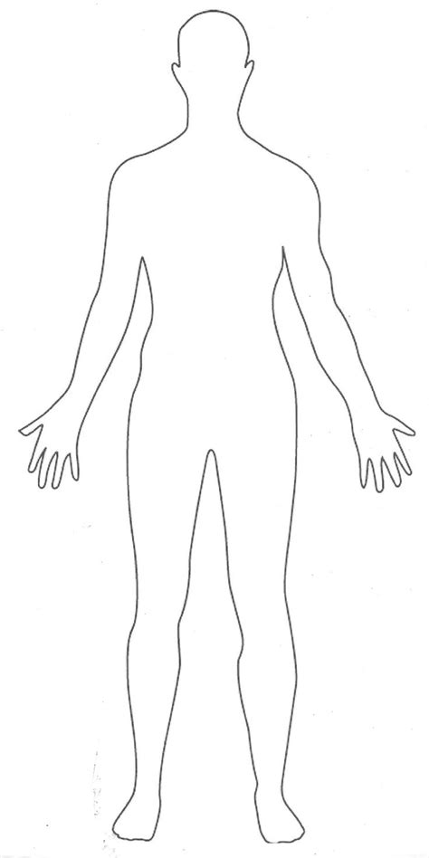 human figure template printable printable human outline fashion