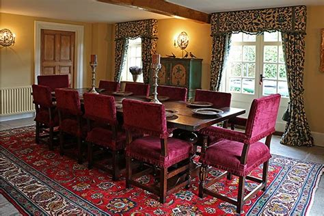 century style farthingale chairs  oak pedestal table