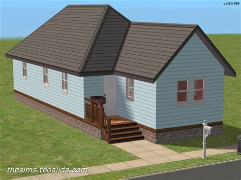 Single Room House Plans Shotgun House Starter Home For 4 Sims The Sims Fan Page