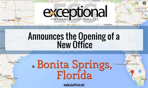bonita springs sign company exceptional software solutions llc opens a new office in