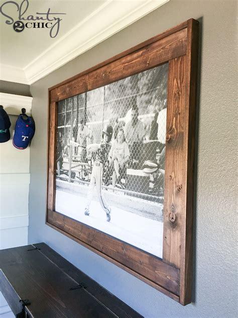 diy wooden frame diy engineer print frame shanty 2 chic