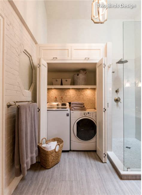 laundry room in a bathroom just use the washer as