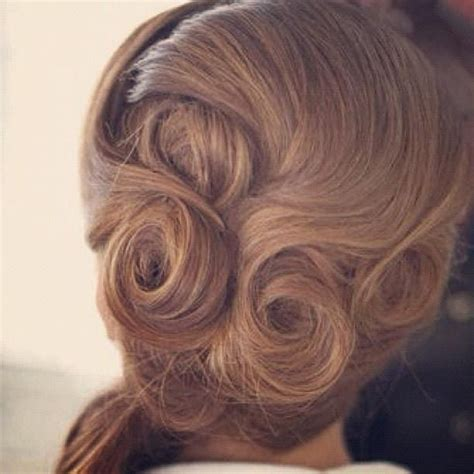 17 best ideas about pin curl updo on pin curls
