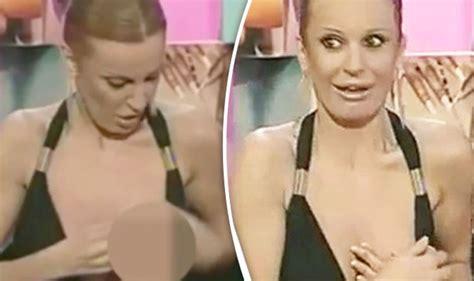 tv presenter suffers major wardrobe malfunction
