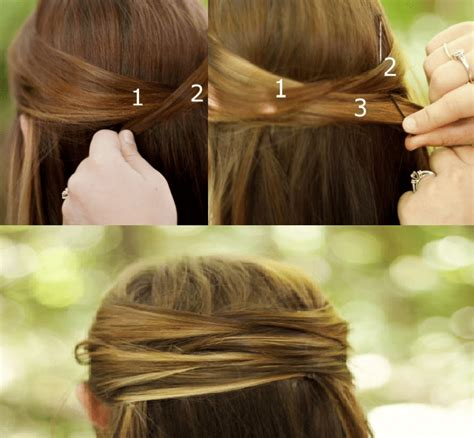 over lap hair overlapping half up half down hair tutorial beautiful shoes