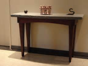 entry way table custom foyer table stone and wood by stonehunterstudio