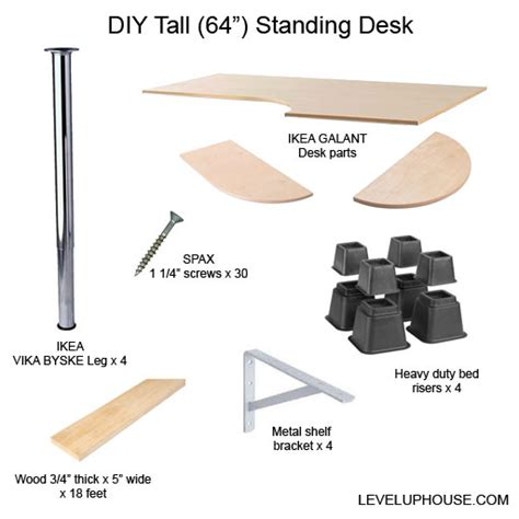 Galant Desk Parts by Jim S Diy Standing Desk