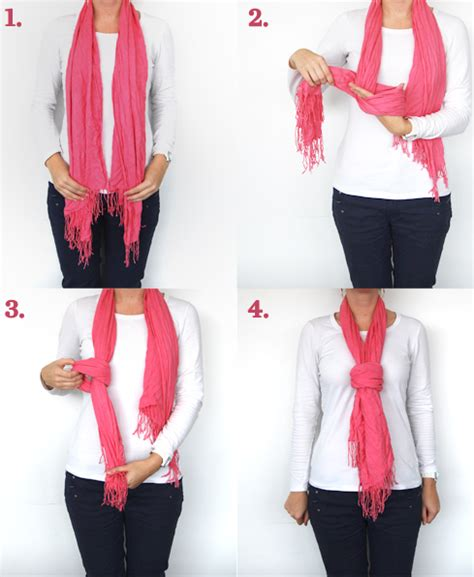 how to drape a scarf around your neck four ways to tie a scarf good housekeeping