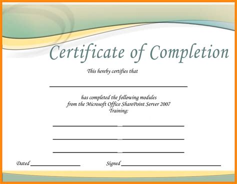 microsoft templates certificate microsoft publisher template certificate of completion